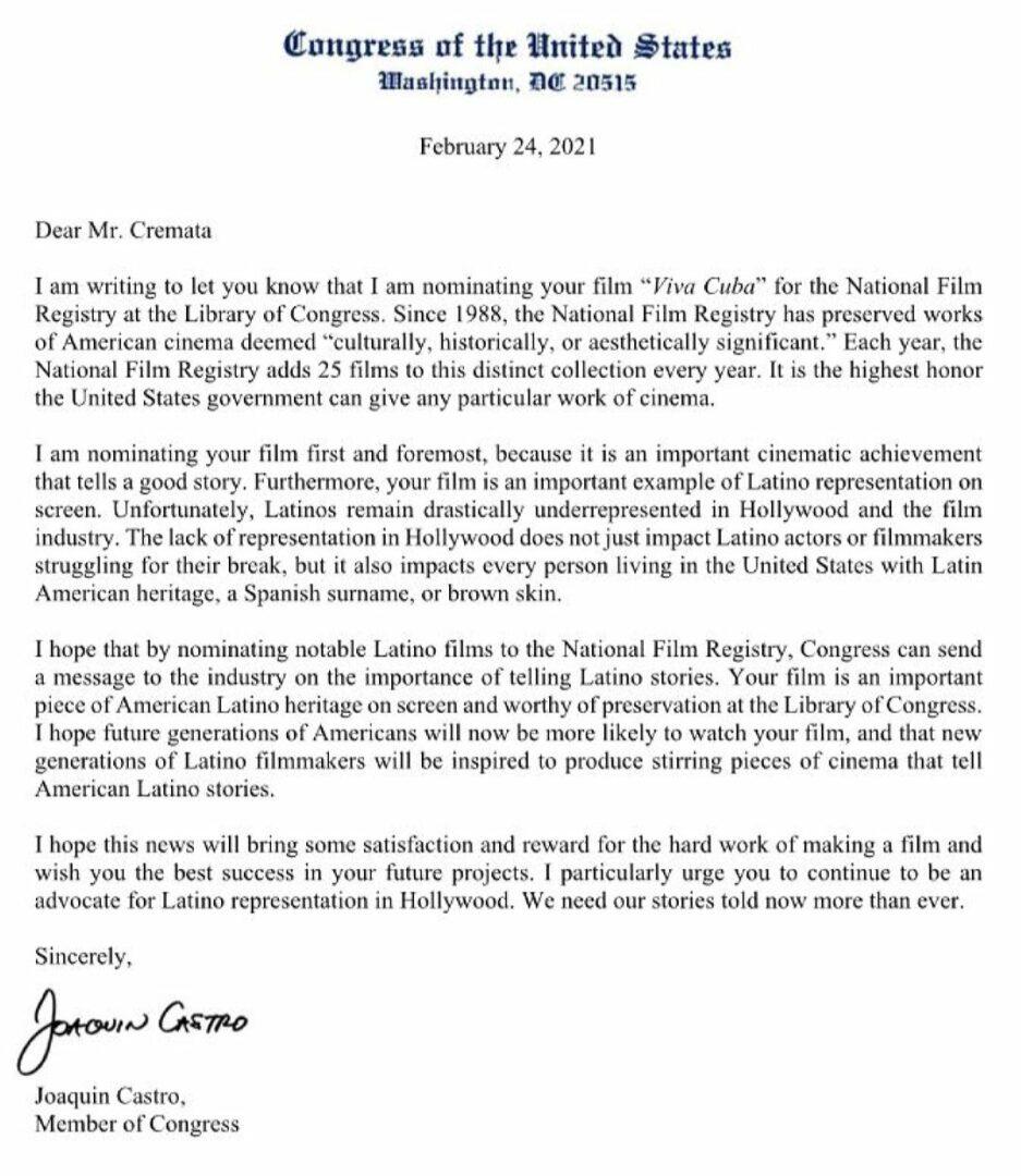 Viva Cuba Congreso USA